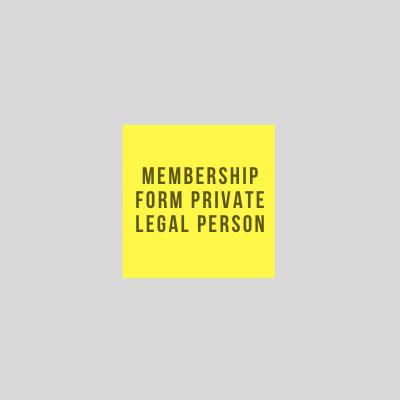 Private legal person membership form